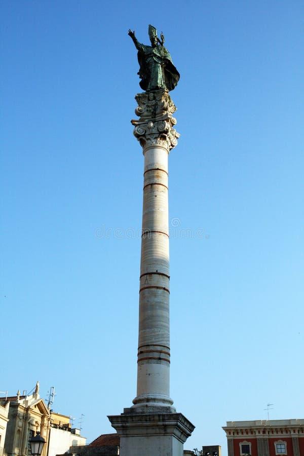 S.oronzo kolom stock afbeeldingen