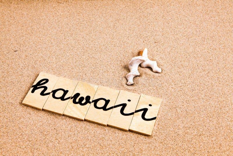 Download Słowa na piasku Hawaii zdjęcie stock. Obraz złożonej z element - 53785252