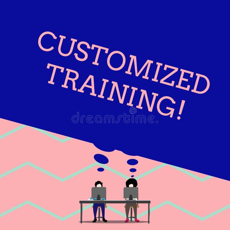 S?owa writing tekst Dostosowywaj?cy szkolenie Biznesowy pojęcie dla Projektuję Spotykać Specjalnych wymagania pracodawca mężczyzn ilustracja wektor