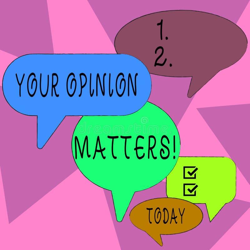 S?owa writing tekst Tw?j opinii sprawy Biznesowy poj?cie dla przedstawienia ty ty no zgadzasz si? z co? kt?ry w?a?nie m?wi? royalty ilustracja