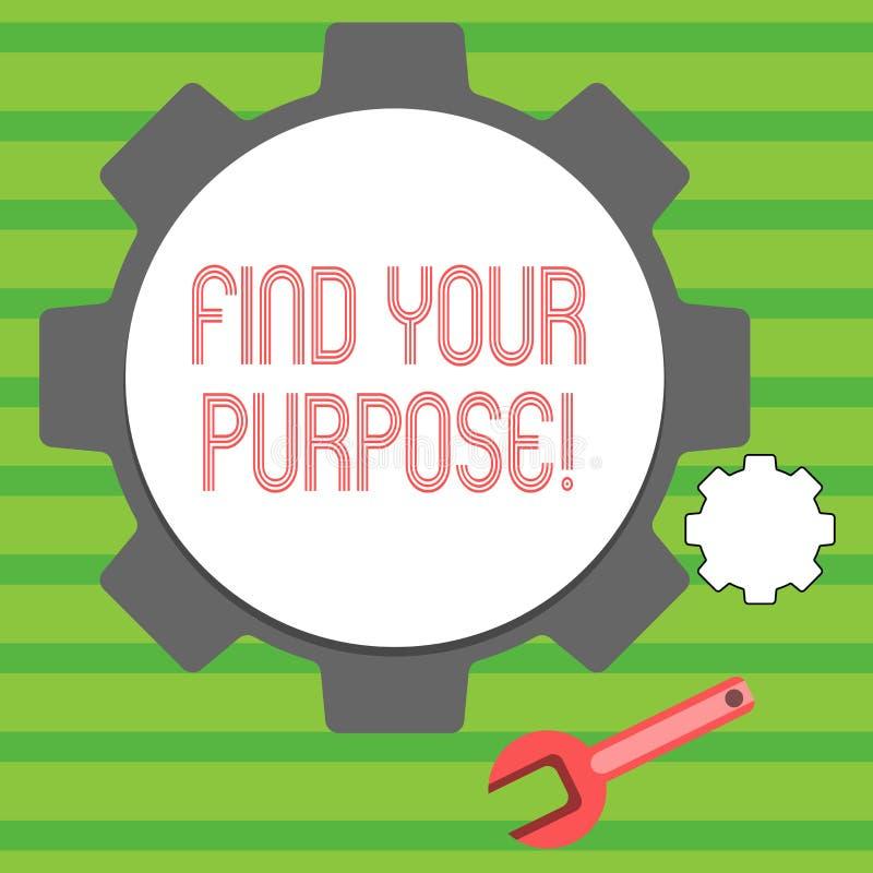S?owa writing tekst Znajduje Tw?j Purpose Biznesowy poj?cie dla powodu dla co? zrobi dla lub czego wci?? istnieje Du?ego i ilustracja wektor