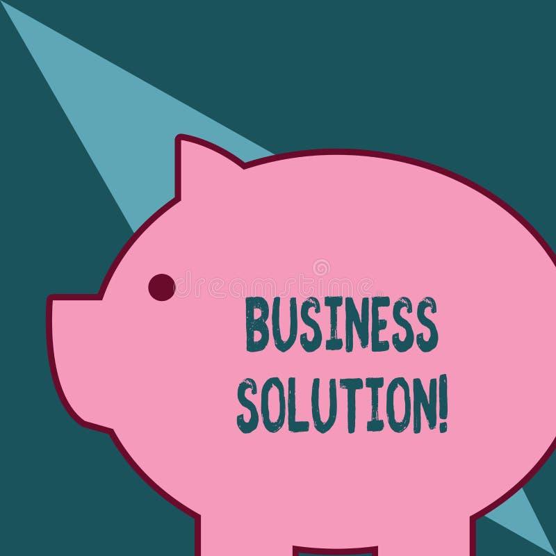 S?owa writing teksta biznesu rozwi?zanie Biznesowy pojęcie dla usług które zawierają planowania strategicznego i cenienia sadło royalty ilustracja