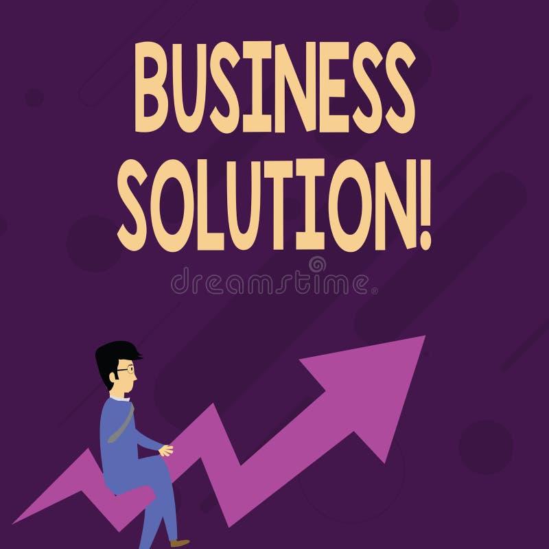 S?owa writing teksta biznesu rozwi?zanie Biznesowy poj?cie dla us?uga kt?re zawieraj? planowanie strategiczne i cenienie ilustracji