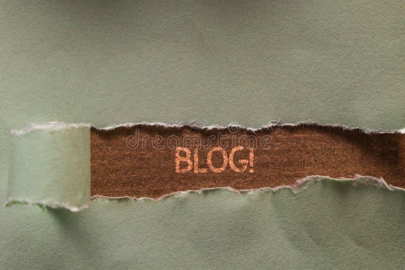 S?owa writing teksta blog Biznesowy pojęcie dla regularnie uaktualnionego strony internetowej strony internetowej bieg indywidual obraz stock