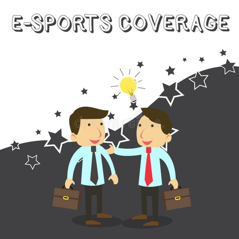 S?owa writing teksta E sport?w sprawozdanie Biznesowy pojęcie dla Donosić żywy na opóźnionej sport rywalizacji Transmituje Dwa ilustracji