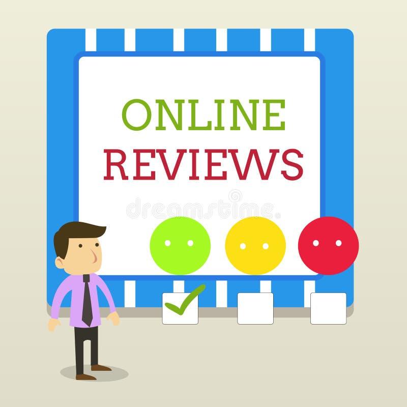 S?owa writing teksta Online przegl?dy Biznesowy pojęcie dla produktu cenienia klienta informacje zwrotne publikuje w strona inter ilustracji