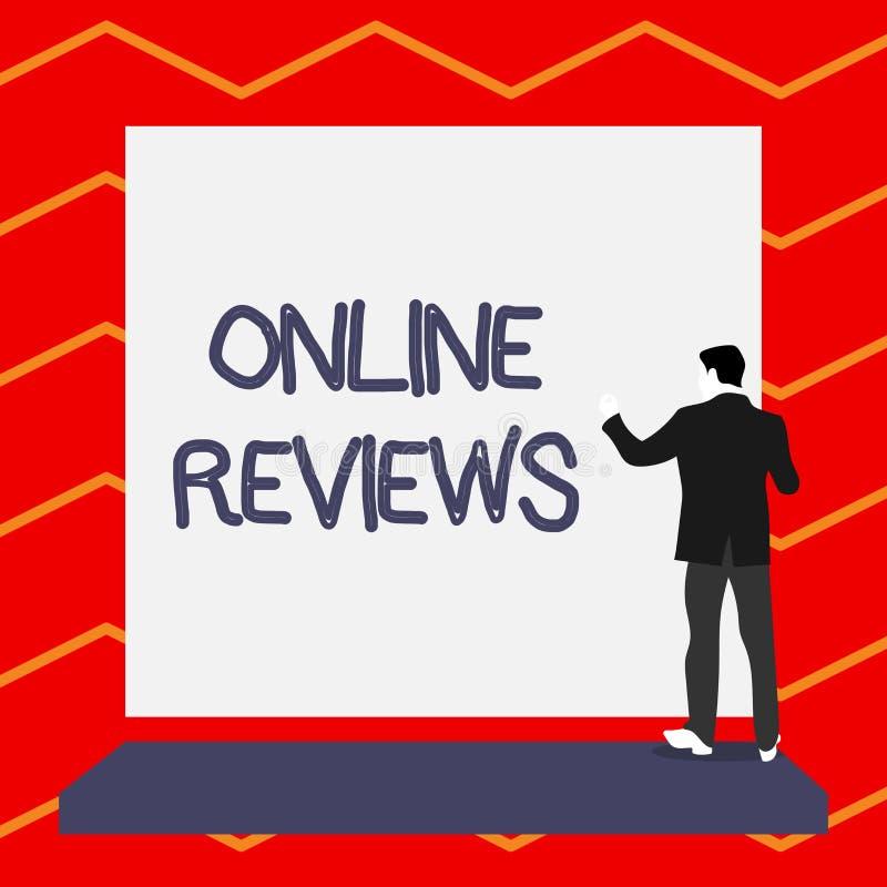 S?owa writing teksta Online przegl?dy Biznesowy pojęcie dla produktu cenienia klienta informacje zwrotne publikuje w stronie inte royalty ilustracja