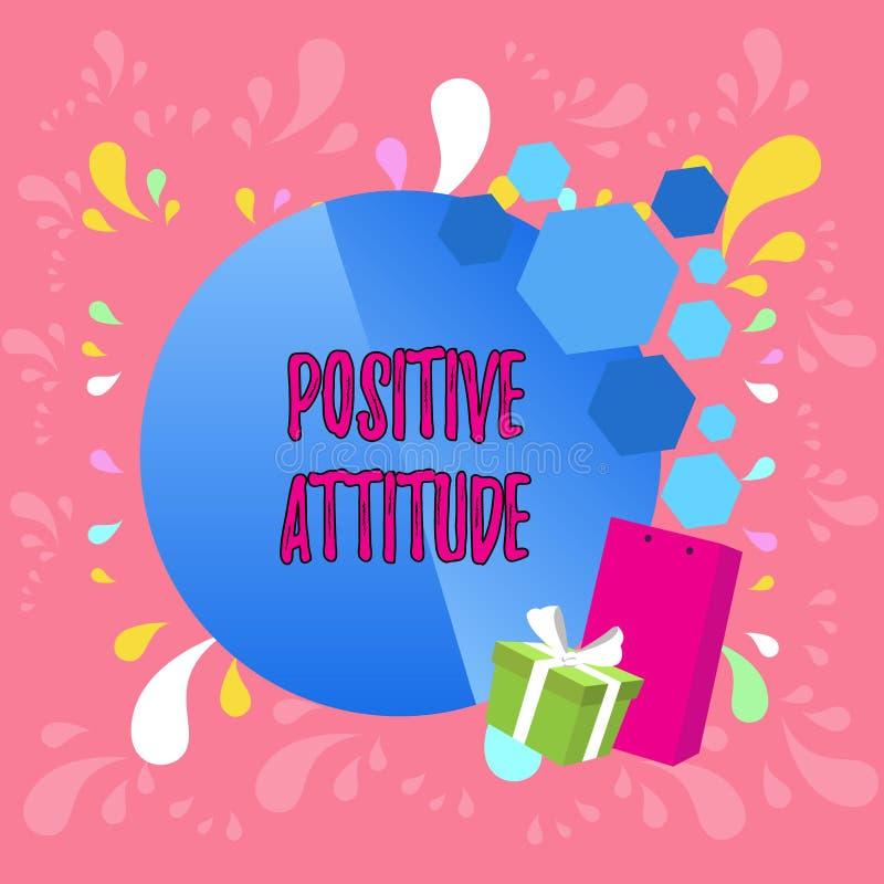 S?owa writing teksta Pozytywna postawa Biznesowy pojęcie dla Być optymistycznie w życiu Szuka dobrą rzeczy kartkę z pozdrowieniam ilustracja wektor