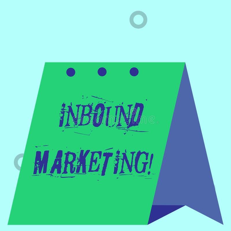 S?owa writing teksta Przylatuj?cy marketing Biznesowy pojęcie dla strategii która skupia się na przyciągać klientów lub prowadzeń royalty ilustracja
