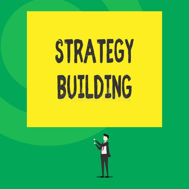 S?owa writing teksta strategii Budowa? Biznesowy pojęcie dla Wspierać kupienie i nabywanie inny platformy Odizolowywał widok royalty ilustracja