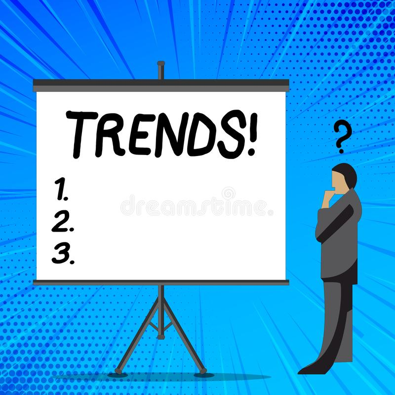 S?owa writing teksta trendy Biznesowy pojęcie dla generała projektował kierunki coś według czasu biznesmena royalty ilustracja