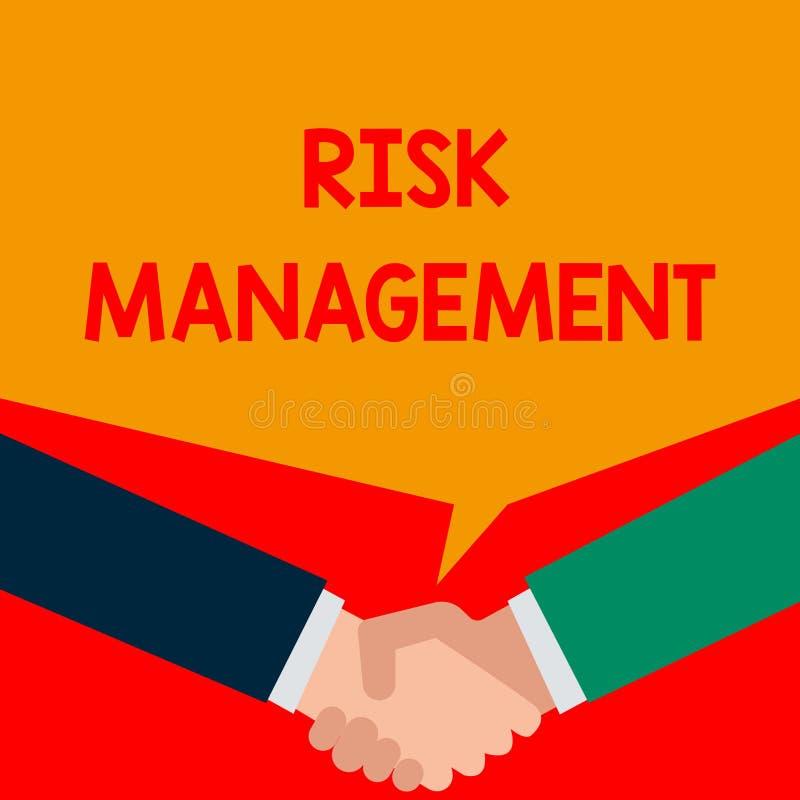 S?owa writing teksta zarz?dzanie ryzykiem Biznesowy pojęcie dla cenienia pieniężni zagrożenia lub problemy z procedurami Dwa ilustracji