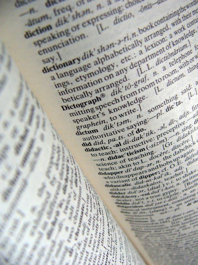 Download Słownik zdjęcie stock. Obraz złożonej z strona, słowa, odniesienie - 138744