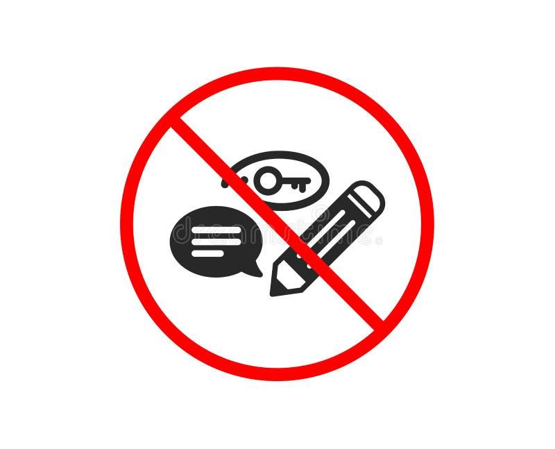 S?owo kluczowe ikona O??wkowy symbol wektor ilustracji