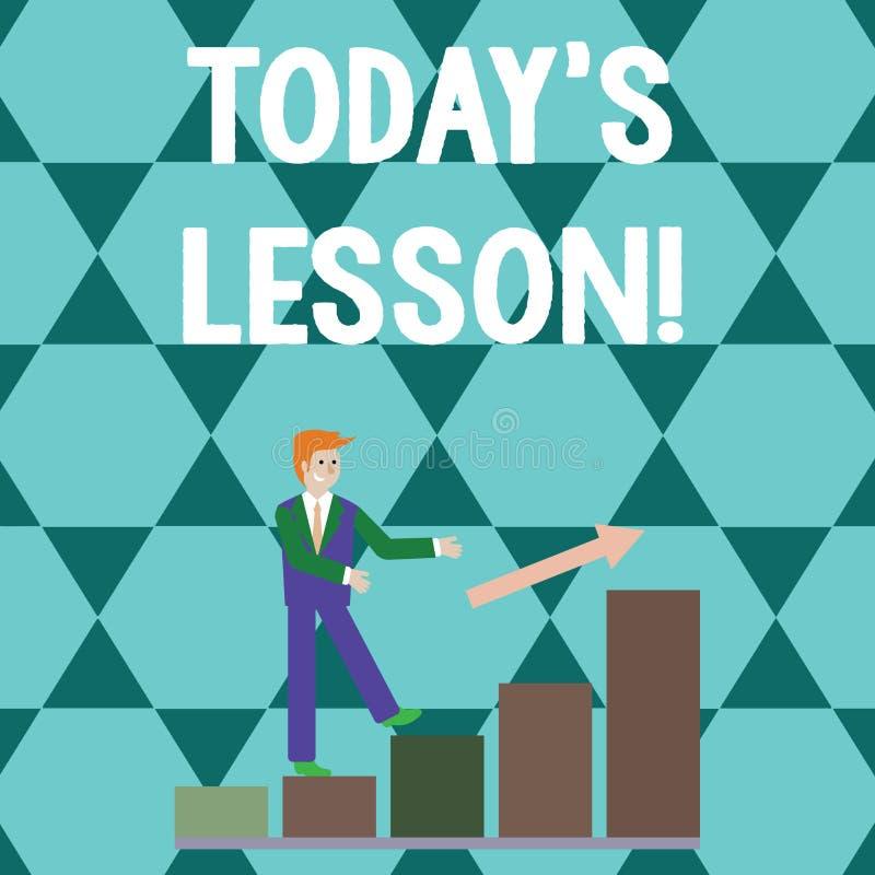 S?owo pisze tekscie S Dzisiaj Jest Lekcyjny Biznesowy pojęcie dla pyta dla indywidualnej nauki wyznacza Coś uczącym się ilustracji