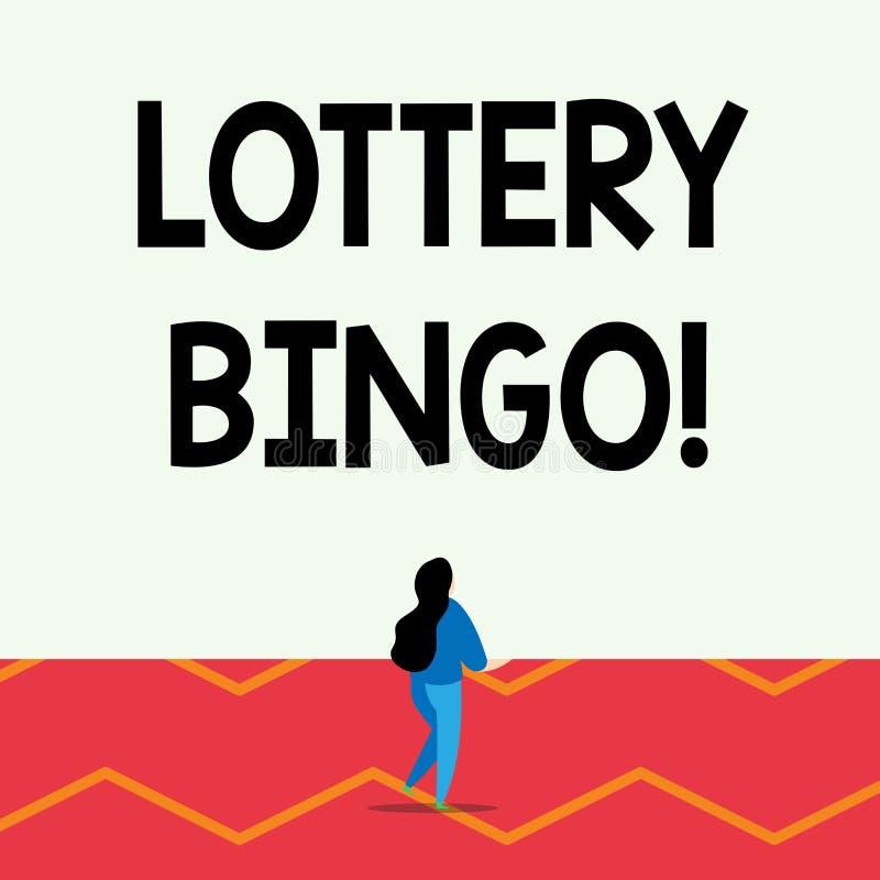 S?owo pisze tekst loterii Bingo Biznesowy poj?cie dla gry szansa w kt?rym dopasowywa liczby drukowa? each gracz royalty ilustracja