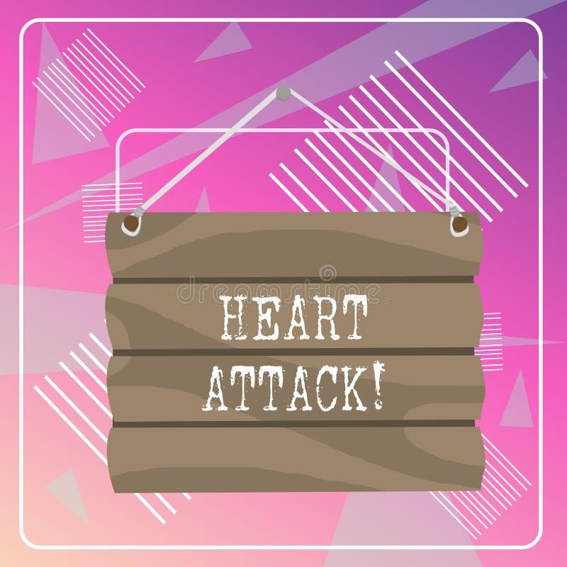 S?owo pisze teksta atak serca Biznesowy pojęcie dla nagłego występowania wieńcowy zakrzepica wynikający w śmiertelnym haczyku W g ilustracja wektor
