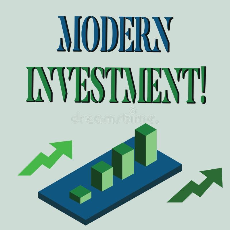 S?owo pisze tekstowi Nowo?ytnej inwestycji Biznesowy pojęcie dla władz inwestorski pojęcie Kolorowy dywersyfikacja royalty ilustracja