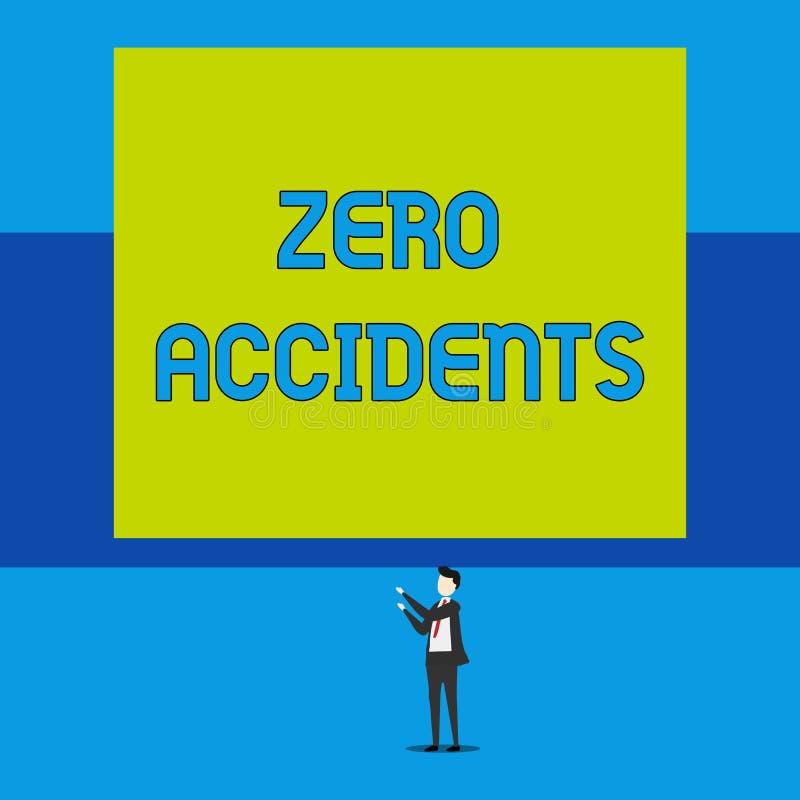 S?owo pisze tekstowi Zero wypadkach Biznesowy pojęcie dla znacząco strategii dla zapobiegać miejsce pracy wypadki Odizolowywający ilustracja wektor