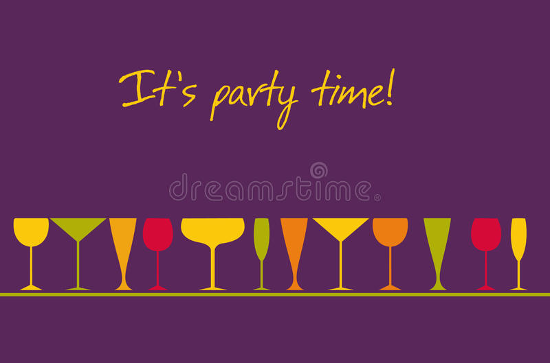 Download It's party time stock vector. Image of events, party - 11454036
