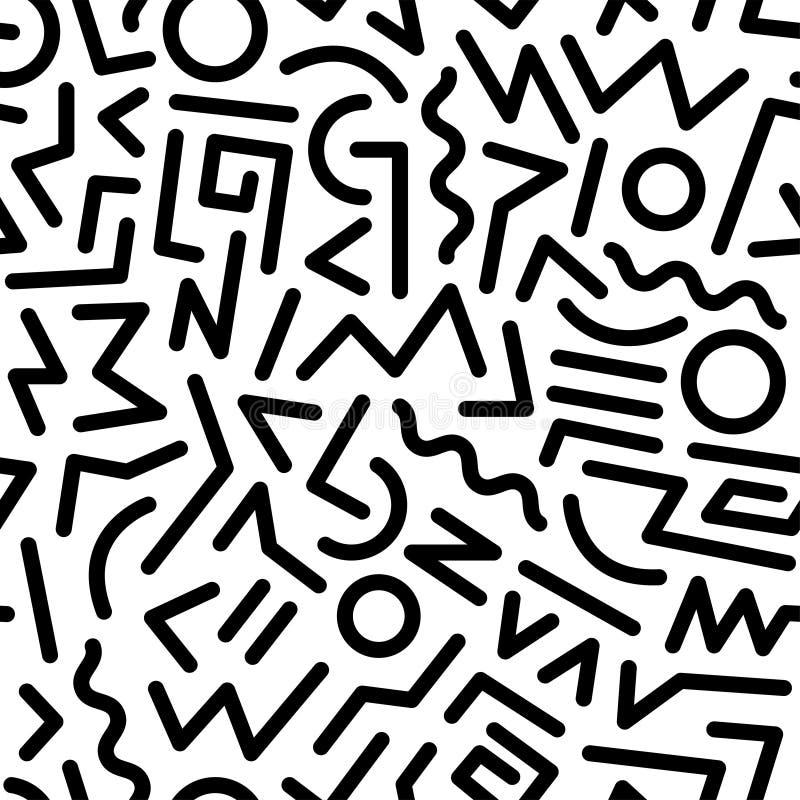 80s pattern stock illustration