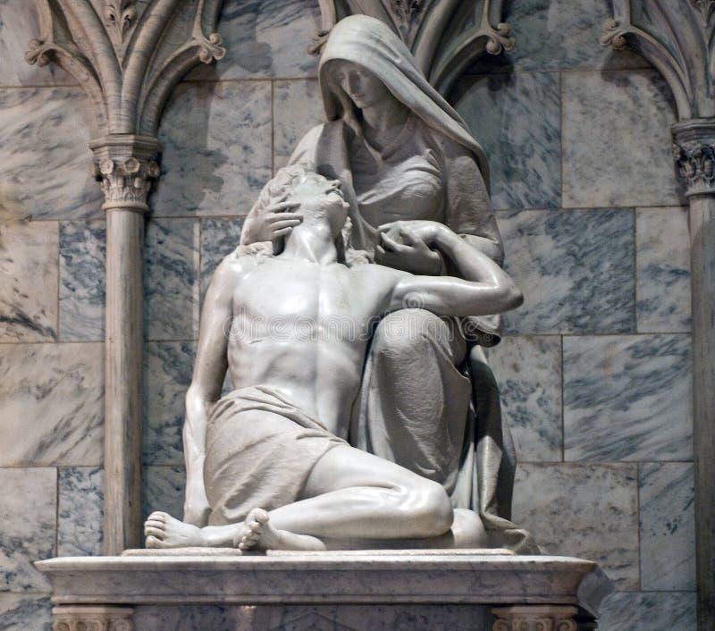 ` S Pieta Sculptue St Patrick Kathedrale lizenzfreie stockfotos