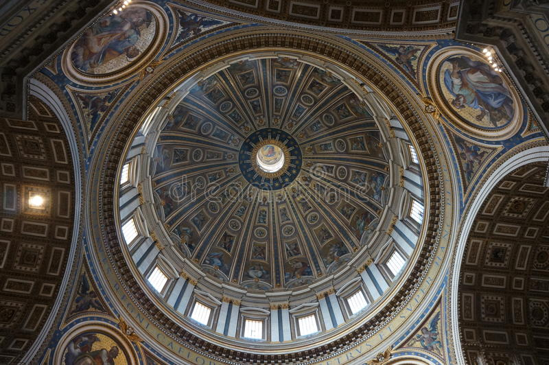 Download S. Pietro Basilica ceiling stock image. Image of ceiling - 23904709