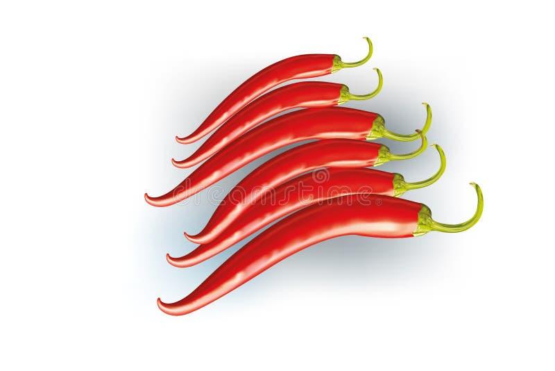S/poivron d'un rouge ardent illustration stock