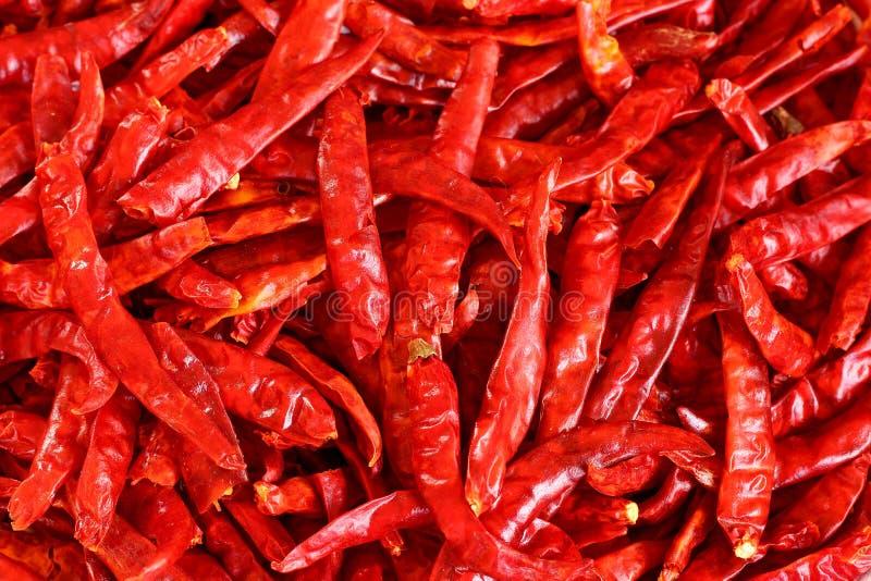S/poivron rouges secs image stock
