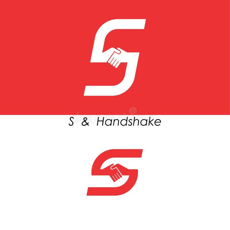 S - Ponga letras al icono abstracto y da la plantilla del vector del diseño del logotipo Té ilustración del vector