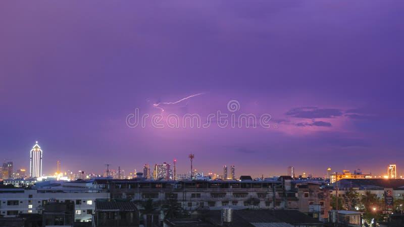It's pouring with rain, Bangkok stock photo
