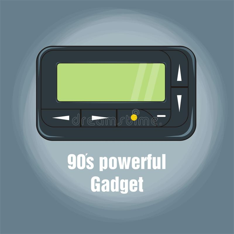 90's powerful gadget. If you have experienced life in the 90s, you would know this gadget vector illustration
