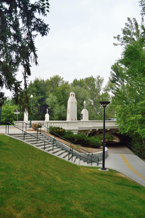 S Punti del boulevard del Campidoglio alla zona verde Boise Idaho fotografia stock libera da diritti