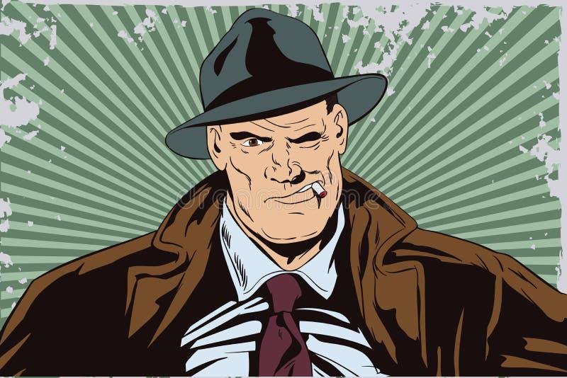 Sûr un détective privé illustration libre de droits