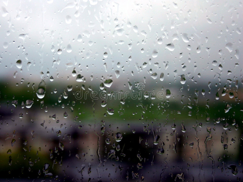 It's a raining day royalty free stock image