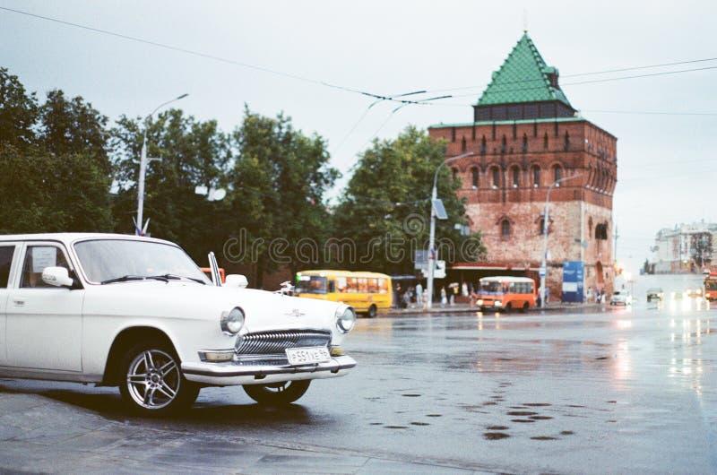 Nizhnij Novgorod in rainy day stock photography