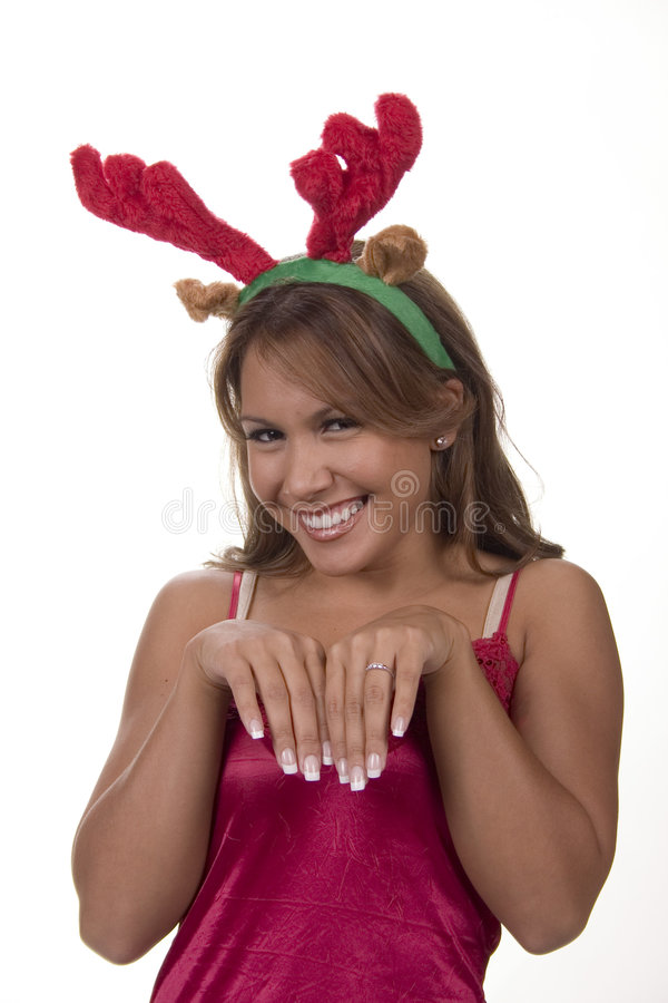 Download She's a reindeer stock photo. Image of season, sheer, antlers - 323468