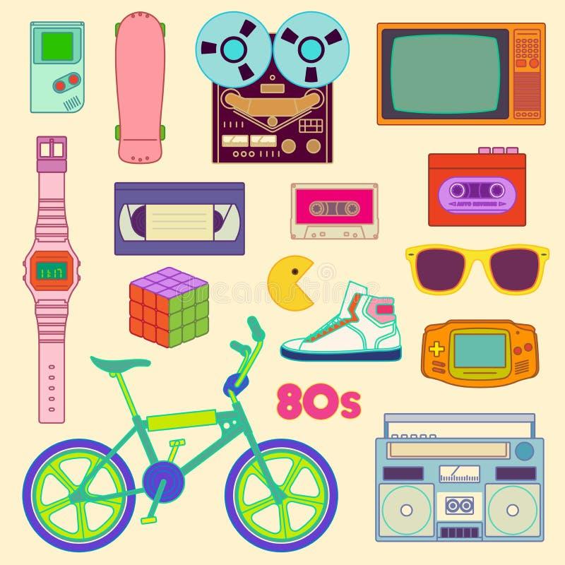 80s retro imagem de stock