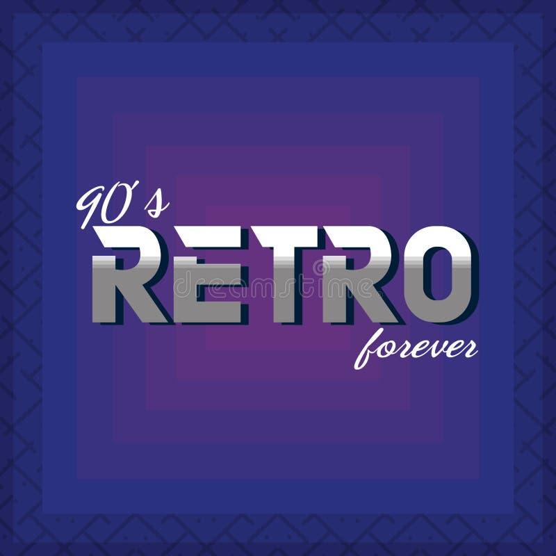 90s forever design stock vector  Illustration of cartoon