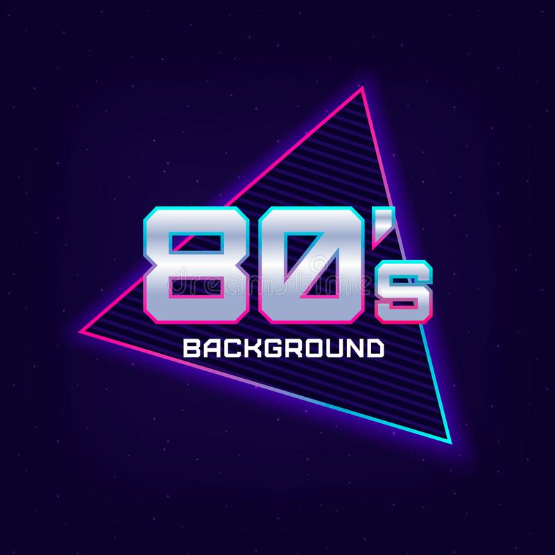 80s Retro Sci-Fi Background royalty free illustration