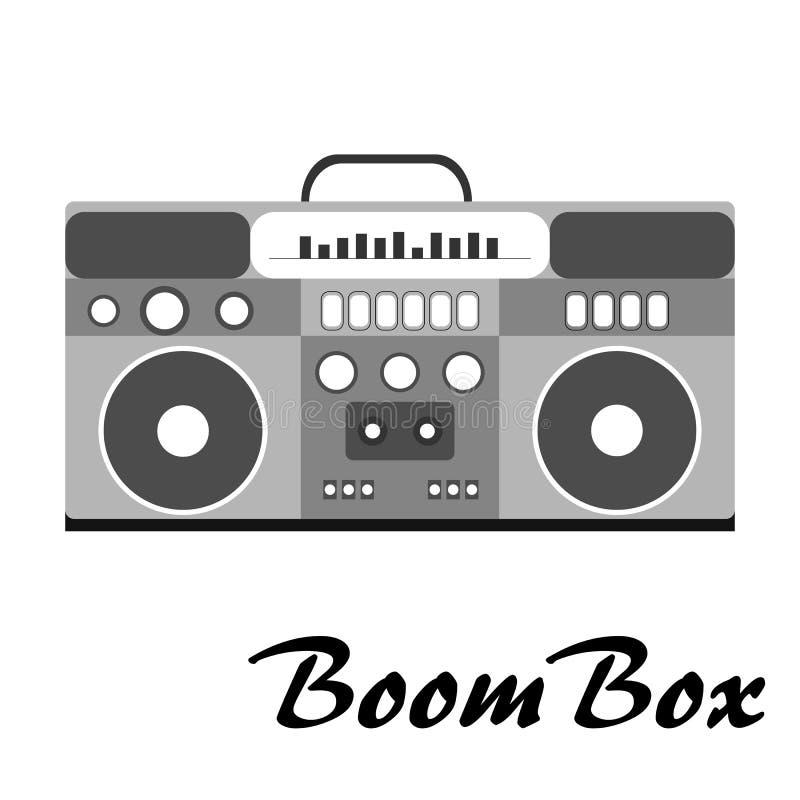 80s retro styl, roczników 80 ` s mody retro boombox ilustracja wektor