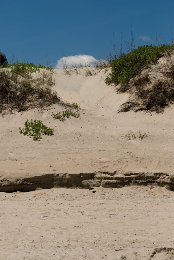 ` S Ridge Sand Dune do jóquei nos bancos exteriores, North Carolina imagens de stock royalty free