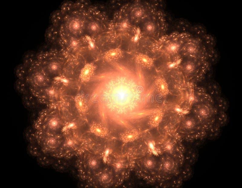 S?rie das part?culas elementares A intera??o do fractal abstrato forma a prop?sito da ci?ncia da f?sica nuclear e do projeto gr?f ilustração do vetor