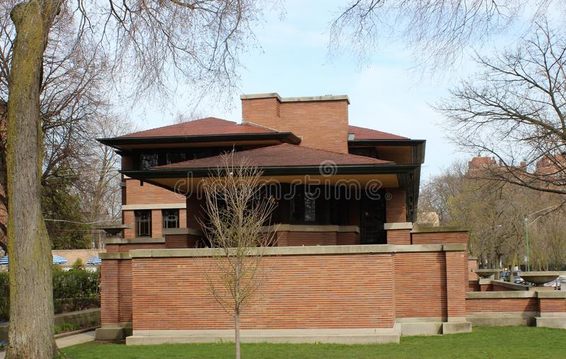s robie house di frank lloyd wright immagine stock