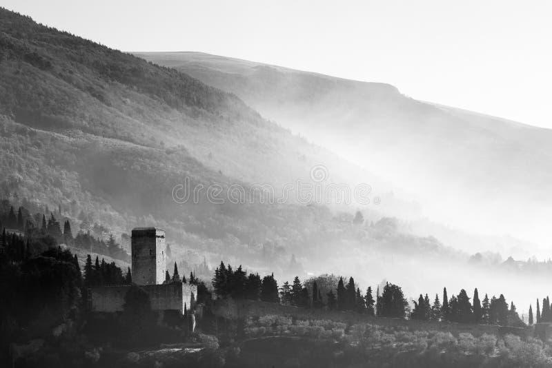 ` S Rocca Minore Assisi стоковая фотография