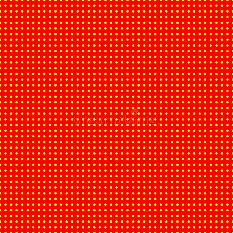 50s rosso e giallo, modello del fondo del popart 60s royalty illustrazione gratis