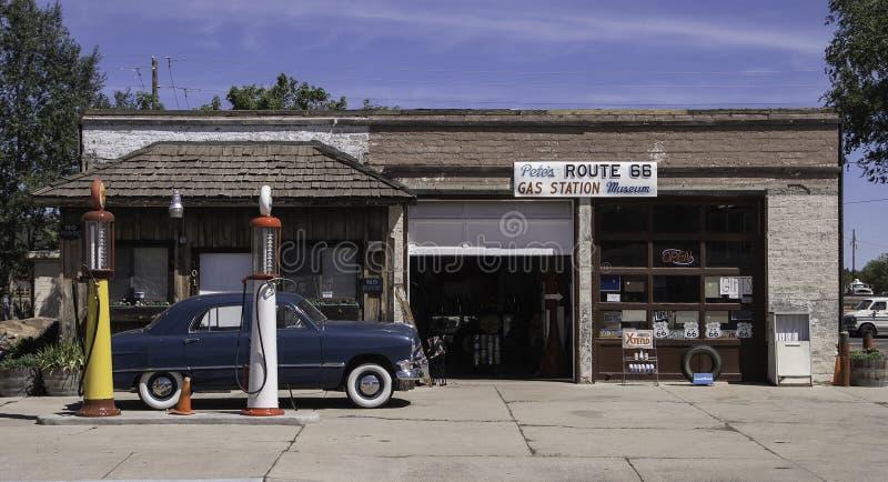 ` S Route 66 s Peter Tankstelle Museum, Williams, Arizona lizenzfreies stockbild