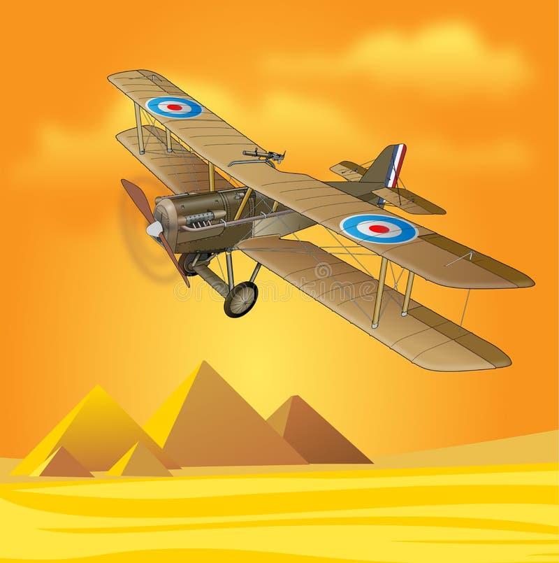 1900s Royal Air Force på Egypten royaltyfri illustrationer