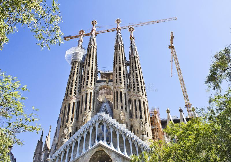 ` S Sagrada Familia de Barcelone image libre de droits