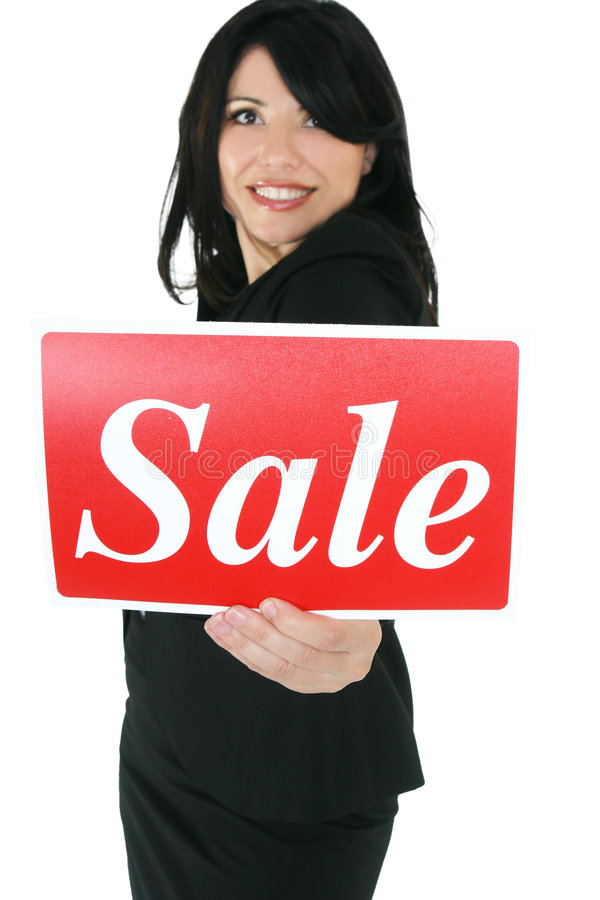 It's Sale Time. Women love a sale. Focus on sign